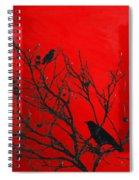 Raven - Black Over Red Spiral Notebook
