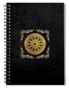 Ancient 12-spoked Gold Dharmachakra - The Wheel Of Dharma Spiral Notebook