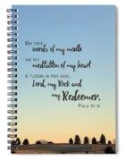 Meditation Of My Heart Spiral Notebook