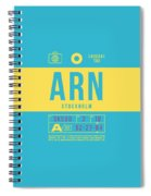 Retro Airline Luggage Tag 2.0 - Arn Stockholm Sweden Spiral Notebook