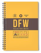Retro Airline Luggage Tag 2.0 - Dfw Dallas Fort Worth United States Spiral Notebook