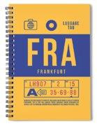 Retro Airline Luggage Tag 2.0 - Fra Frankfurt Germany Spiral Notebook