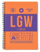 Retro Airline Luggage Tag 2.0 - Lgw London Gatwick Airport United Kingdom Spiral Notebook