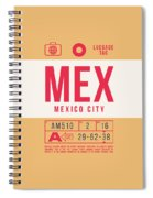 Retro Airline Luggage Tag 2.0 - Mex Mexico City International Airport Mexico Spiral Notebook