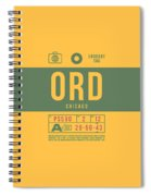 Retro Airline Luggage Tag 2.0 - Ord Chicago O'hare Airport United States Spiral Notebook