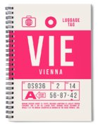 Retro Airline Luggage Tag 2.0 - Vie Vienna International Airport Austria Spiral Notebook