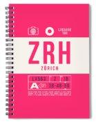 Retro Airline Luggage Tag 2.0 - Zrh Zurich International Airport Switzerland Spiral Notebook