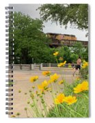 Urban Pathways Butler Park At Austin Hike And Bike Trail With Train Spiral Notebook