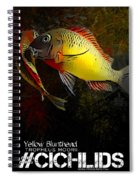 Yellow Blunthead Cichlid Dance Spiral Notebook