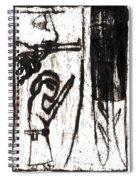 Assassin After Mikhail Larionov Black Oil Painting 10 Spiral Notebook