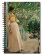 At The French Windows. The Artist's Wife Spiral Notebook