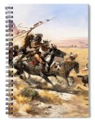 Attack On The Wagon Train Spiral Notebook
