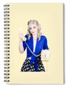Attractive Blond Female Secretary On Vintage Phone Spiral Notebook
