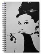 Audrey B W Spiral Notebook