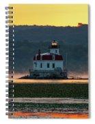 August Dawn At Esopus Light IIi 2017 Spiral Notebook