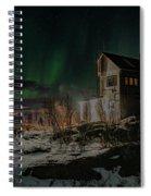 Aurora Borealis Over Harstad Spiral Notebook