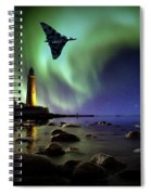 Auroral Splendour For The Vulcan Spiral Notebook