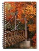 Autumn Across The Bridge  Spiral Notebook