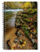 Autumn At Cherry Falls Elk River Spiral Notebook