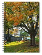 Autumn Day In The Salem Willows Salem Ma Red Spiral Notebook