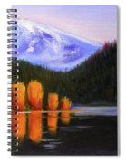 Autumn Lake Reflection Spiral Notebook