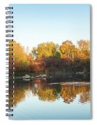Autumn Mirror - Silky Wavelets Caused By Ducks Spiral Notebook