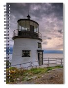 Autumn Morning At Owls Head Spiral Notebook
