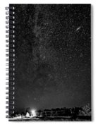 Autumn Night - Sauble Beach - Two Galaxies Bw Spiral Notebook