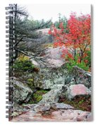 Autumn On The Rocks Spiral Notebook