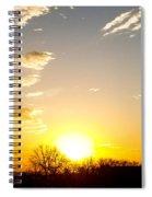 Autumn Sun Rising Over Barren Trees Spiral Notebook