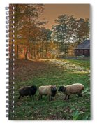 Autumn Sunset At The Old Farm Spiral Notebook