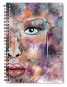 Autumn - Woman Abstract Art Spiral Notebook