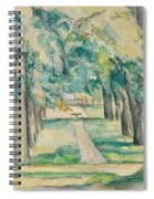 Avenue Of Chestnut Trees At The Jas De Bouffan  Spiral Notebook