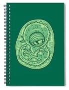 Baby Dinosaur Embryo Spiral Notebook