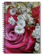 Baby's Breath And Roses Spiral Notebook