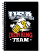 Bachelor Party Usa Drinking Team Beer Party Cheers Gift Spiral Notebook