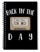Back In The Day 80s Cassette Funny Old Mix Tape Spiral Notebook