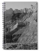 Badlands South Dakota Black And White Spiral Notebook