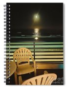 Balcony On The Pacific Oceanside California  Spiral Notebook