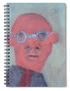 Bald Man In Glasses Spiral Notebook