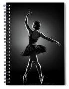 Ballerina Dancing Spiral Notebook