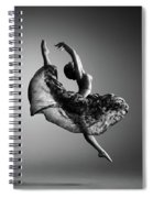 Ballerina Jumping Spiral Notebook