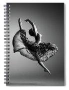Ballerina Jumping Spiral Notebook