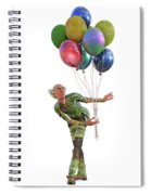 Balloons And Happy Guy Spiral Notebook