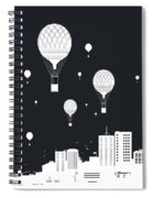Balloons And The City Spiral Notebook