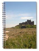 Bamburgh Castle And Beach In Summer Spiral Notebook