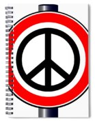 Ban The Bomb Road Sign Spiral Notebook