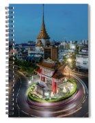 Bangkok Traffic Circle Spiral Notebook