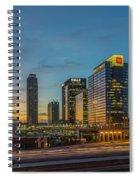 Banking Giants Too Atlanta Midtown Sunset Atlanta Georgia Art Spiral Notebook