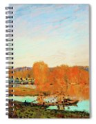 Banks Of The Seine Near Bougival - Digital Remastered Edition Spiral Notebook